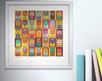Glasgow Soup. Framed.