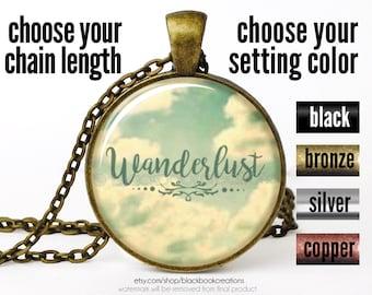 Wanderlust  Necklace, Wanderlust Pendant, Wanderlust Jewelry, Bohemian