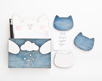 Cat Magnets, Cute Fridge Magnet,  Kitchen Storage, Blue Kitchen Decor, To Do List Planner, Funny Magnets, Small Kitchen Appliances