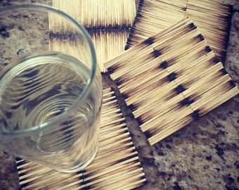 Matchstick Coasters