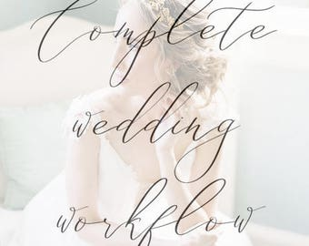 Complete Wedding Photography Client Workflow