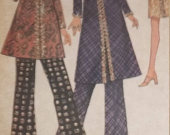 UNCUT and FF Pattern Pieces Vintage McCalls 2673 Dress or Top or Pants Size 12 Bust 34