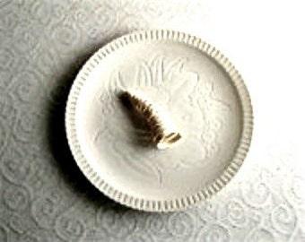 Vintage Dinnerware, Syracuse China, Vintage Bread Plate, Floral Pattern, Vintage China, White Plate, Shelled, Old Plates, Plate Vintage
