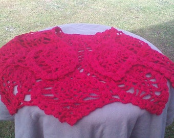 Red Pineapple Shawl
