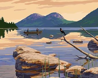 Acadia National Park, Maine - Jordan Pond (Art Prints available in multiple sizes)