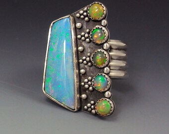World Tour of Opal Granulated Ring