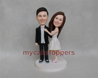 Custom wedding cake topper, Bride and groom cake topper, personalized cake topper, Mr and Mrs cake topper, custom cake topper