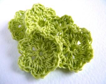 Crochet flower, set of 20, crochet applique, embellishments, cotton applique,Wall Handing, Shabby chic, Scrapbooking,crochet ornaments,cards