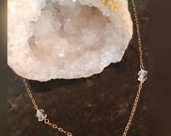Herkimer Diamond Choker style necklace