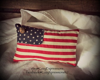 Primitive American Flag Bowl Filler | 4th of July decoration | USA flag | Patriotic decoration | Flag decor | Flag ornaments |