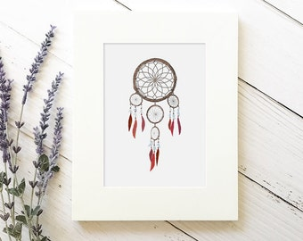 Dream Catcher Nursery - Nursery Dream Catcher - Dream Catcher Decor - Tribal Nursery - Tribal Boho Nursery - Feather Wall Art - Tribal Print