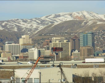 Poster, Many Sizes Available; 2006 Salt Lake City, Utah Mountains