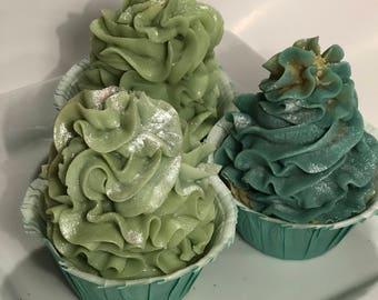 Lemon Eucalyptus Soap Cupcake