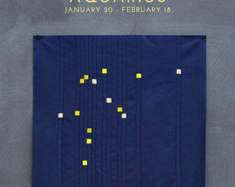 Aquarius Constellation Block PDF pattern - Quilting Patchwork