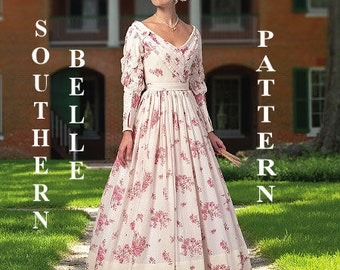 Southern Belle Costume  Pattern -Historical 1860's - Butterick B5832 - Civil War Misses Costumes -Sizes: 6 - 14 or 14 - 22