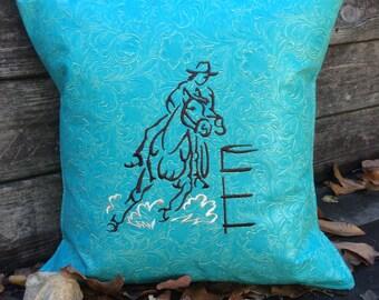 Barrel Racer Pillow- Prairie Faith Designs