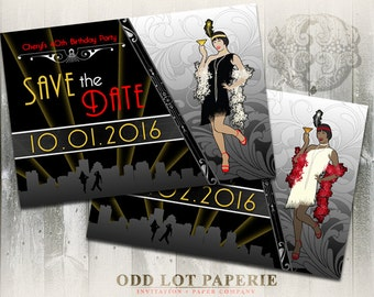 Gatsby Art Deco Invitation, Roaring 20's Birthday, Corporate Event Party, Flapper Girl, DIY Printable Invite, Great Gatsby, Art Deco