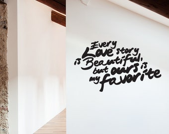 Our Story Removable Wall Sticker