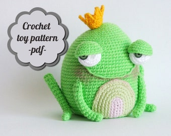 "Crochet pattern amigurumi ""Flirty frog"" pdf"