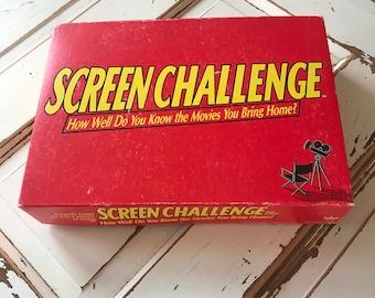 Vintage 1991 Board Game Gag Gift Screen Challenge