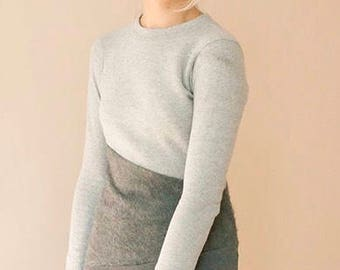 Sample Sale - Bodycon cotton jersey dress - UK size 6 - Handmade