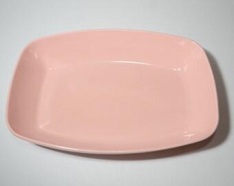 Vintage, Melamine, Pink, Serving Bowl, Dinnerware, Hard Plastic, Camping, Made in Canada, MCM, Midcentury, Melmac, Dinnerware