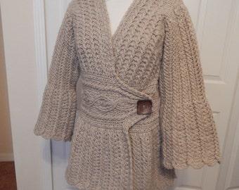 Hand Crocheted Wool Sweater
