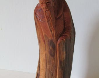 Vintage Chinese Immortal Root Carving With Mark
