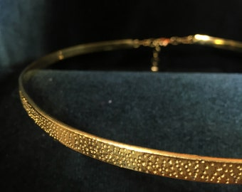 Simple Pitted Silver or Brass Band Circlet Headpiece