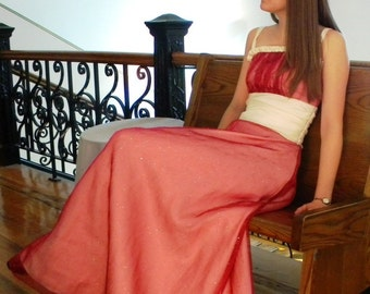 Modest Prom Dress, Modest Formal Gown w/ Doubled Gathered Bodice, long evening gown - CUSTOM MADE in any fabric