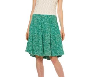 1950s Green Wool Macramé Dress  Size: XS/S