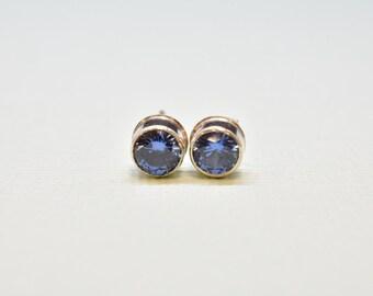 CZ Sapphire Earrings