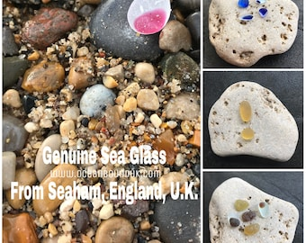 Genuine Sea Glass from Seaham. Guaranteed Authentic. Flawless and Frosted. Multis, Ultra and Rare. Singles and Sets. Free UK Delivery.