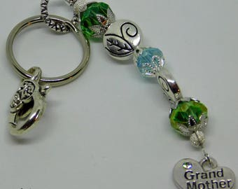 Key Chain with Purse Hook and Grandmother Charm