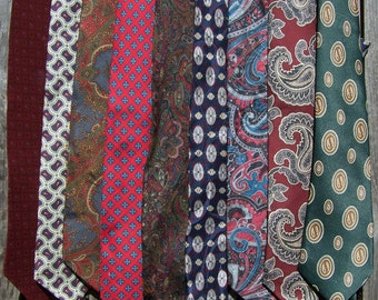 Collection of 9 Vintage Ties - Pattern Grouping