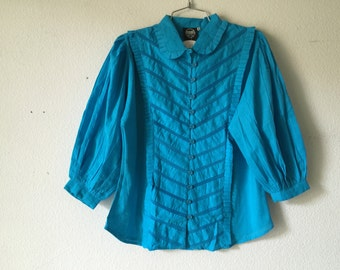 FREE SHIPPING - Vintage 70s India Cotton Blouse