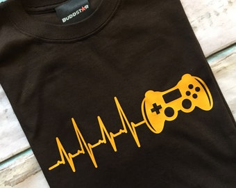 Buddstar Mens Live to Game Console Controller T-shirt