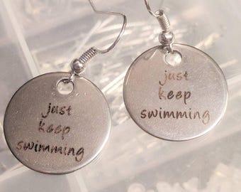 Finding Nemo Earrings - Finding Dory Earrings - Disney Earrings - Just Keep Swimming Earrings