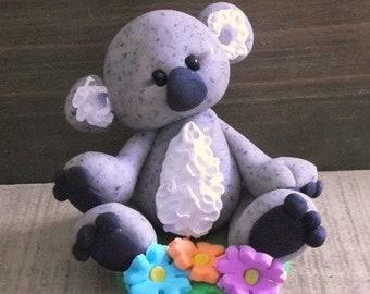 Koala polymer clay figurine
