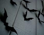 3D Black Bats- set of 25