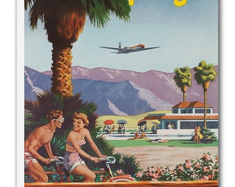 Palm Springs Art Travel Poster Print Canvas Hanging Wall Decor xr871