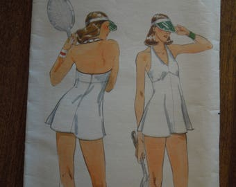 Butterick 5424, size 14, stretch knit fabrics, womens, misses, tennis dress and shorts, UNCUT sewing pattern, craft supplies
