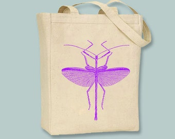 Bright Summer Vintage Bug 3  Canvas Tote - Selection of tote size, ANY COLOR image