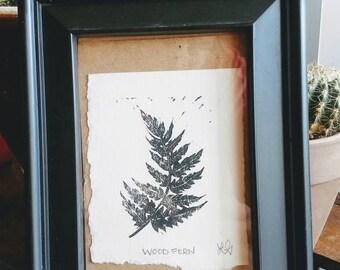 Wood Fern Print