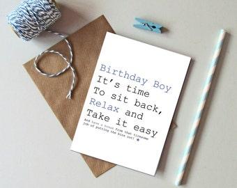 Male birthday card. Birthday card for men. Funny male birthday card. Humorous card for men. Funny Birthday card