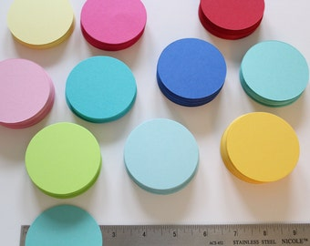 "2.5"" Cardstock circles- 50, scrapbooking, favor tags, cupcake toppers, garland"
