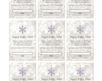 Baby it's Cold Outside Diaper Raffle Cards