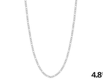 Men's Necklace - Men's Chain - Figaro Chain - 316L Stainless Steel Necklace - 4.8mm Figaro Necklace - Steel Necklace - Men's Jewelry - Metal