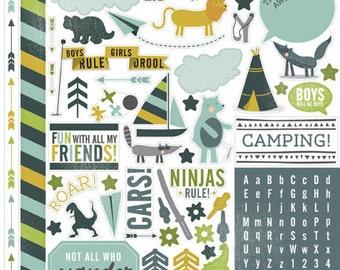Camping / Animal / Boy  Stickers/ Echo Park