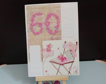 60th Card | Birthday card | Thank you card | Anniversary Card |